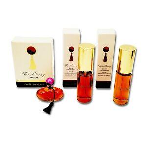 Vintage 90s Set of 3 AVON Far Away 4ML Mini Perfume & 2Bottle 15ML Perfume Spray