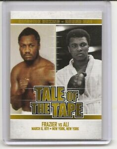 2010 Ringside Round One Joe Frazier Muhammad Ali Gold Insert Card /9