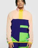 NIKE Flight Basketball Coral Purple Half Zip Jacket Men's Size MEDIUM CN8508-590