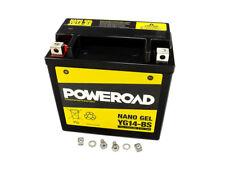 Batterie GEL Poweroad YTX14-BS für Aprilia BMW Buell Cagiva Harley Suzuki Yamaha