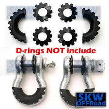 Black D-Ring Shackle Isolator & Washers 6pcs Kit Set Rattling Protection Covers