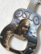 HARD ROCK CAFE  ***OSLO*** VIKING GUITAR BOTTLE OPENER MAGNET~ AWESOME!!