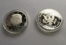 38*3 US President Donald Trump Inaugural Silver EAGLE Commemorative Novelty Coin