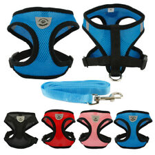 Breathable Mesh Fabric Cat Kitten Harness and Leash Set Soft Cat Walking Jacket