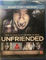 Unfriended (Blu-ray/DVD, 2015, 2-Disc Set) NEW SEALED