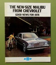 1978 CHEVROLET MALIBU Brochure Landau Wagons El Camino 16p Schwinn Stingray cov