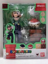 New Bandai S.H. Figuarts Nintendo Super Mario LUIGI action figure shf will bros
