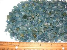 Aquamarine deep blue all natural crystal mixed grade Zambia 3-12mm 50 carats