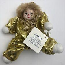Classic Treasures Porcelain Doll Zandra 8 Inch Doll Gold New Model Tcclno36