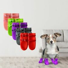Dogs Rubber Shoes Non-slip Comfortable Outdoor Boots Pet Dog Foot Wear 4pcs/set