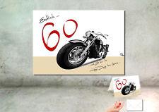 """DigitalOase """"Endlich 60"""" Wandbild Poster 30 x 40 cm 60. Geburtstag plus Karte A6"""