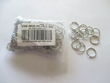 Wholesale Lot 200 Jump Rings, Stainless Steel Color, 14 x 1.2 mm
