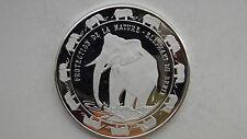 1993 Benin 6000 Francs Elephant Silver Proof coin