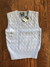 Boys Ralp Lauren Sweater Vest NWT Sky Blue Size 6 New