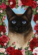 Roses Garden Flag - Siamese Cat 199531