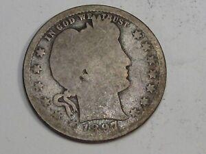 Key Date 1897-o Barber Quarter. #37