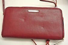 New/DEFECT.Rebecca  minkoff burgundy color leather zip-around wallet