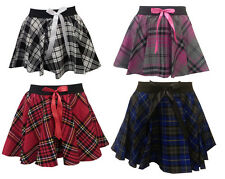 Girls Kids Children Dance School Uniform PE Gym Stretch Tartan Skirt Age 5/10