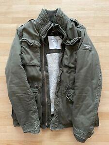 Abercrombie & Fitch Sherpa Military Jacke Jacket Coat Größe XL Olive
