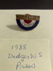 1988 Los Angeles LA Dodgers World Series Press Pin - vs Oakland Athletics A's