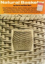 Ex-craft guild natural basketry HART PB how to make wicker splint coiled raffia