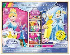 Bendon Disney Princess Storybook Dress Up Magnetic Wooden Doll Set, 75-Piece