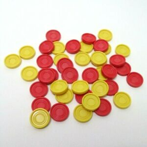 Four In A Row Game Replacement Parts Pieces - 42 Colored Chips