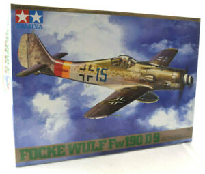 Tamiya Grumman Focke Wulf Fw190 D-9 1/48 Scale Model Airplane Kit 61041