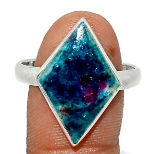 Ruby In Kyanite 925 Sterling Silver Ring Jewelry s.10.5 BR83847