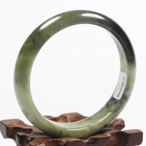 61mm Certified Grade A 100% Natural Black Green Xiu Jade Bangle Bracelet 59165