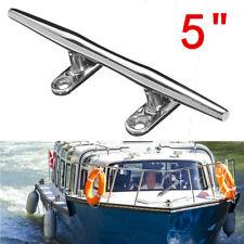 "5"" Boat Cleat Mooring Marine Bollard Slimline Horn 316 Stainless Steel Yacht"