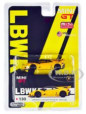 LAMBORGHINI HURACAN GT LB WORKS YELLOW LTD 1/64 DIECAST MODEL CAR TSM MGT00130