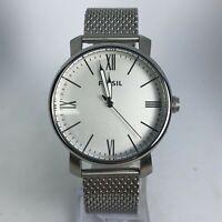 Fossil Mens BQ2367 Rhett Three Hand Silver Stainless Steel Quartz Analog Watch