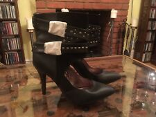 BN Black High Heeled Shoe Boots By George Size UK 6.5 EUR 40