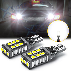 921 912 LED Strobe Reverse Backup Light Bulbs Error Free For Mercedes BMW Audi
