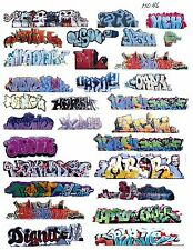HO COLORFUL GRAFFITI DECALS ASSORTMENT 46 29 DECALS FREE SHIPPING DOMESTIC