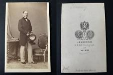 Angerer, Vienne, Le politicien Anton von Schmerling Vintage cdv albumen print.