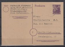 DC8019/ GERMANY ALLIED ZONE – BERLIN - POSTAL STATIONERY MI # P4 USED