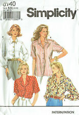 SIMPLICITY 8140 ~  MISSES SHIRTs (BLOUSES) 4 x STYLES - SIZE 10 - 12 - 14 - 16