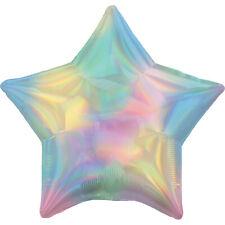 Amscan Pastel Rainbow Iridescent Star Standard HX Foil Balloons