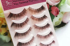 NEW 5 pair Dark Brown Cross Nature MakeupTools False eyelashes Eye End Extension