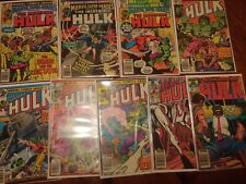 Marvel Comics The Incredible Hulk Lot Of 9 Vintage Comics