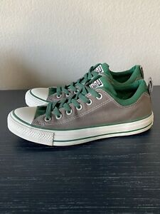 CONVERSE ALL STAR  Men's 7 Women's 9 Gray & Green Canvas Low Top 136500F
