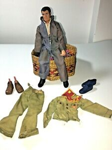 1971 Action Jackson Doll -hand 2 outfits Coverall Boy Scouts Uniform 3 pjs shoes