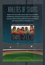 St Kitts 2011 MNH Athletes IAAF World Championship Athletics 1v S/S Bronze Relay