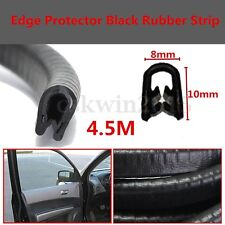 4.5M Black Car Auto Door Edge Protector U-shaped Rubber Seal Trim Molding Strip