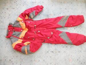 VINTAGE MENS SPYDER One Piece SKI SUIT  full-zip insulated Snowsuit red Sz. L