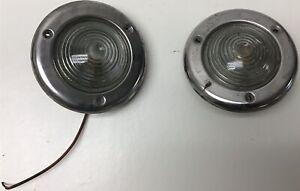 VINTAGE JEEP CJ5 CJ6 CJ7 FRONT SIGNAL PARKING LAMP 1969-1976 Griffin 116 2 PAIR