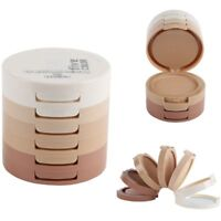 Cosmetic Makeup Set Face Pressed Powder Palette Contour Shading Concealer Puff