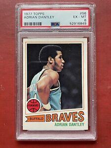 1977-78 Topps  ADRIAN DANTLEY Rookie Card #56 PSA Graded 6 Ex-NM ** HOF **